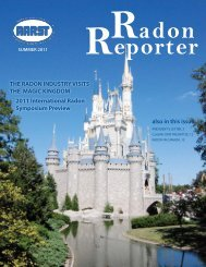 THE RADON INDUSTRY VISITS THE MAGIC KINGDOM ... - aarst