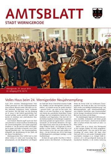 Amtsblatt der Stadt Wernigerode - 02 / 2014 (4.62 MB)