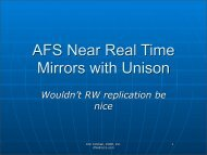 AFS Near Real Time Mirrors with Unison
