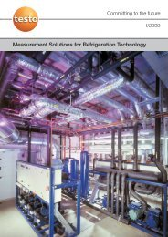 Measurement Solutions for Refrigeration Technology