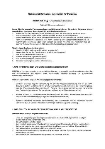 Gebrauchsinformation: Information für Patienten - Ferring