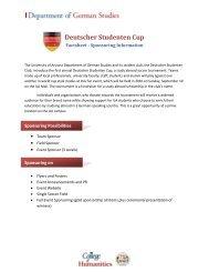 Deutscher Studenten Cup - University of Arizona