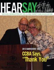 2013 BARRISTERS - Clark County Bar Association