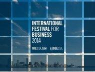 International Festival of Business 2014 September 2012 - IBDE