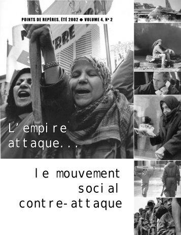 POINT DE REPÈRES ( PDF - 1.1 Mo) - Le Journal des Alternatives