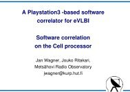 A playstation 3 -based correlator for eVLBI - Mpifr-bonn.mpg.de