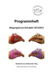 Programmheft Neigungskurse Schuljahr 2012/2013
