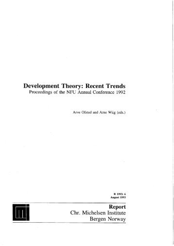 Development Theory: Recent Trends - BORA CMI