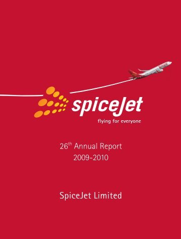 Annual Report 2009-10 - SpiceJet