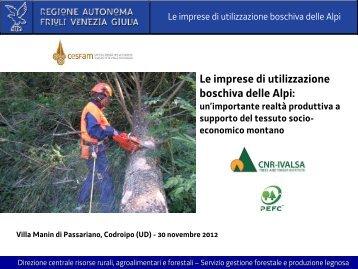 Le imprese di utilizzazione boschiva delle Alpi - Legno Servizi
