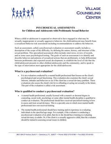 Psychosexual evaluations washington state