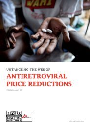 antiretroviral price reductions - Multiple Choices - World Health ...