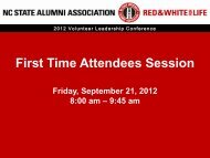 first-time attendee presentation - NC State Alumni Association