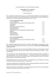 Studienführer BA Germanistik - Bachelor - Universität Mannheim
