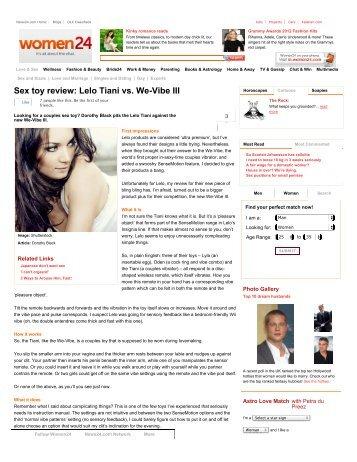 Sex toy review: Lelo Tiani vs. We-Vibe III | Women24