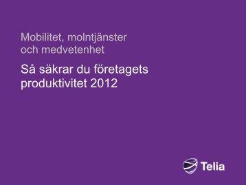 Så säkrar du företagets produktivitet 2012 - IDG