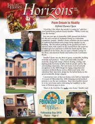 2010 Fall Horizons Newsletter - Landis Homes