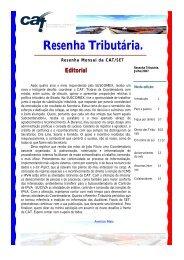 RESENHA julho 2007 - Secretaria de Estado da Tributação