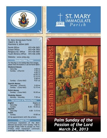 Our Family in Faith - St Mary Immaculate Parish
