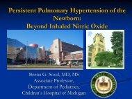 Persistent Pulmonary Hypertension of the Newborn - Mattel ...
