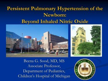 Persistent Pulmonary Hypertension of the Newborn - Mattel ...
