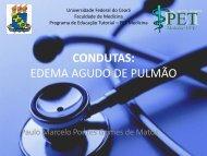 condutas: edema agudo de pulmão - Universidade Federal do Ceará