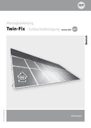 Montageanleitung Twin-Fix Aufdachbefestigung