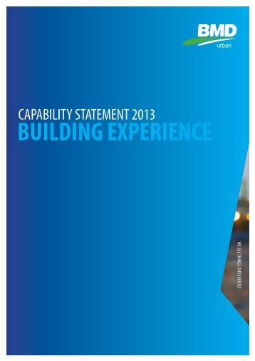 Building Experience Capability Statement - BMD Group