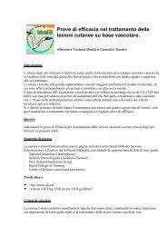 Lesioni cutanee - Evidence Based Nursing