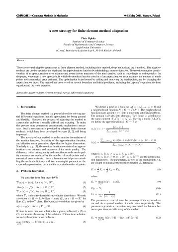 A new strategy for finite element method adaptation