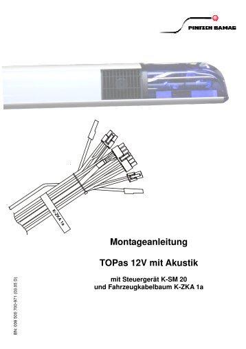 Montageanleitung TOPas 12V mit Akustik, K-SM 20 - Pintsch Bamag