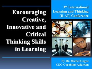 Session Three_Encouraging Creative and Critical Thinking in ...