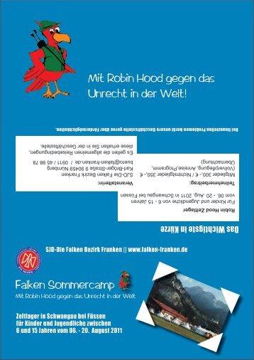 Falken Sommercamp Mit Robin Hood gegen das ... - Falken Franken
