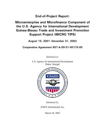 End-of-Project Report - PDF, 101 mb - usaid