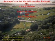 Saratoga Creek Salt Marsh Restoration, Rockport, MA ... - Town of Hull