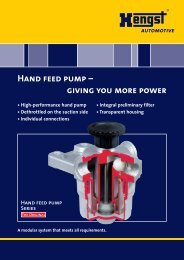 Hand feed pump - Hengst GmbH & Co. KG