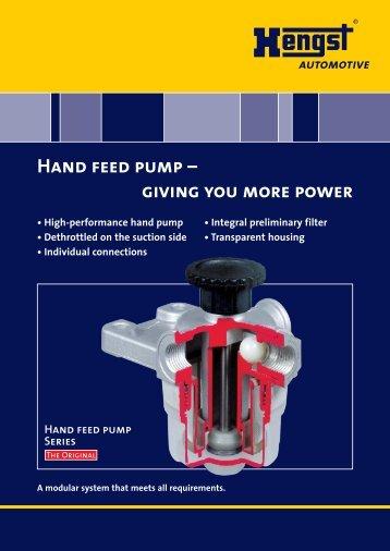 Hand feed pump - Hengst GmbH & Co. KG