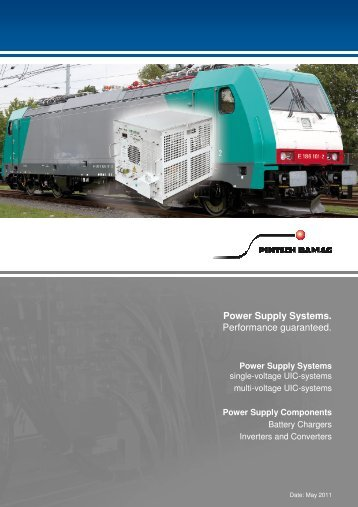 Power Supply Systems. Performance guaranteed. - Pintsch Bamag