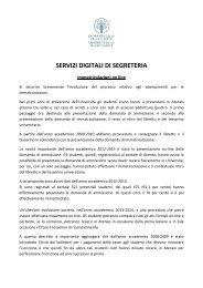 Servizi digitali di Segreteria - Università della Valle d'Aosta