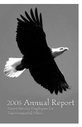 2005 Annual Report 2005 Annual Report - Forest Service ...