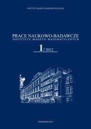 Numer 1/2012 - Instytut Maszyn Matematycznych
