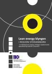 Lean energy klyngen - REG X