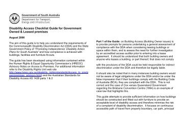 Disability Access Checklist Guide for Government Owned & Leased