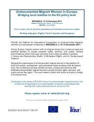 Undocumented Migrant Women in Europe: - PICUM