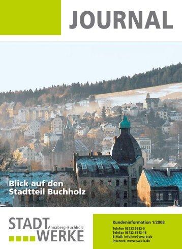 Blick auf den Stadtteil Buchholz - Stadtwerke Annaberg-Buchholz