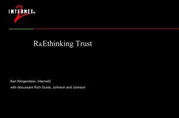 The Trust Continuum - Internet2 Middleware Initiative