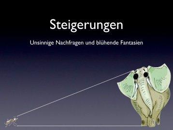 Steigerungen, unsinnige Nachfragen - Datenkerker.de