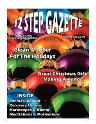 December 2009 - 12 Step Gazette