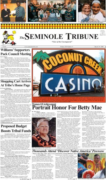 March 24 - Seminole Tribe of Florida