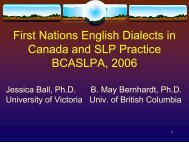First Nations English dialects in Canada - Early Childhood ...